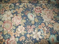 Joan Kessler 2 1 Yard Pieces Fabric Material Sewing Craft Flower Blue Rose Quilt
