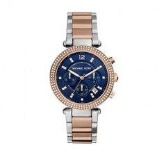 Michael Kors Armbanduhr – Parker Watch Bicolor Rosegold Silver – in rosa – Armbanduhr für Damen