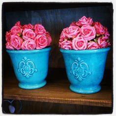 Rosa + azul turquesa! Amamos!