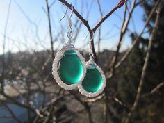 Ohrhänger - Ohrhänger JanuarTanne - ein Designerstück von Behrenperlen bei DaWanda