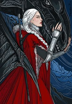 Manon Blackbeak by PhantomRin. Heir of Fire. Queen of Shadows. Empire of Storms. Sarah J. Maas