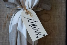 Cheers Calligraphy Tag via design roots