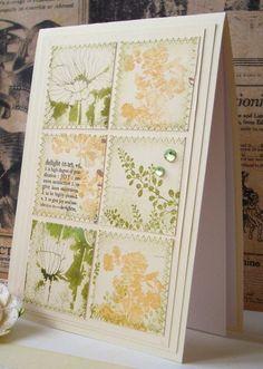 Stitched square stamp, via Flickr.