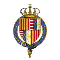 Gartered Arms of Ferdinand I, King of Naples, KG