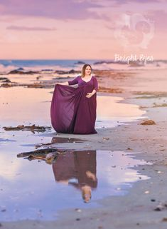 Maternity Gowns, Maternity Session, Purple Gowns, Bright Eyes, Maternity Photographer, Photoshop, How To Wear, Sparkling Eyes, Maternity Dresses