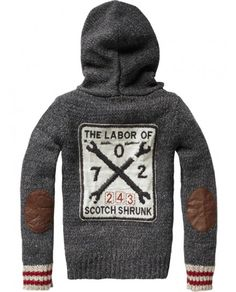 scotch shrunk knitted hoodie.