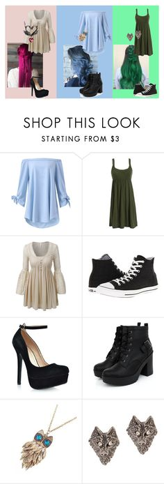 """Power Puff Girls Modernized"" by i-am-not-an-angel ❤ liked on Polyvore featuring LE3NO, Converse, Shoe Republic LA, Tom Binns, Black Swan, modern and plus size dresses"