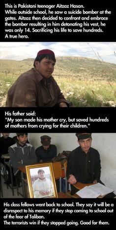 This kid is a true hero…