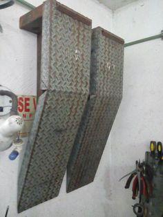 """rampas para mecanico hechas de un canal en """"c"""" que encontré en el tiradero de chatarra y tubo cuadrado de 2x2"""", 8 horas de fabricación"""