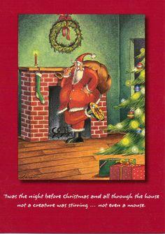 The Far Side by Gary Larson Christmas Cards Santa 1998 50