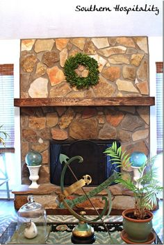 A Rustic Mantel Shelf Installation