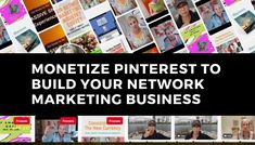Pinterest isn't just for recipes, weddings, and crafts.  And if you think it is, you're missing out...  BIG TIME!  In this video, I talk about an alternative purpose of Pinterest – how learning to monetize Pinterest can be a boon for your business.  If you're a network marketer or affiliate marketer, Pinterest can help you attract prospects, sell products, and recruit team members.  I polled several hundred network marketers, and I learned that only 10.7% are currently using Pinterest…