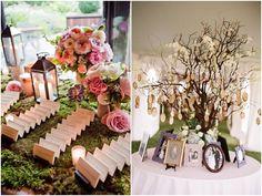Pretty, Inventive Wedding Reception Escort Cards - MODwedding
