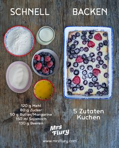 5 ingredients cake vegan - Mrs Flury - eat healthy & live - 5 ingredients cake vegan – Blitzkuchen Mrs Flury – healthy recipes breakfast cake, casserole, p - Healthy Breakfast Recipes, Healthy Eating, Healthy Recipes, Quick Recipes, Clean Eating, Flash Cake, Desserts Végétaliens, Gateaux Vegan, Cake Vegan