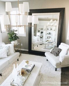 This refreshing living room from @elpetersondesign is so clean and bright. Just like her feed  Yay for #followfriday  #ff #onetofollow #interiordesign #interiorinspiration #homeinspo #CopyCatChic
