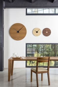 Collection of Kolo clocks. Designed and produced by LUGI