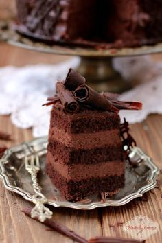 Tort czekoladowy/ chocolate cake Cake Frosting Recipe, Frosting Recipes, Dessert Recipes, Desserts, Best Chocolate Cake, Chocolate Recipes, Delicious Deserts, Cupcakes, Muffins