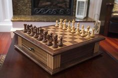 Chess Board and Cabinet