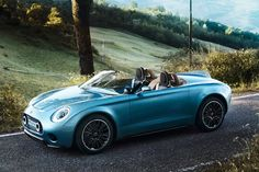 MINI superleggera vision is an italian coach-built electric roadster