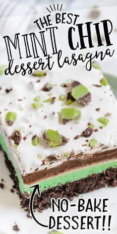 Chocolate Chip Deserts, Chocolate Layer Dessert, Baked Chocolate Pudding, Mint Chocolate Cheesecake, Peppermint Cheesecake, Mint Chocolate Chips, Mint Desserts, Great Desserts, No Bake Desserts