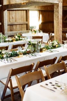 #rustic, #seating, #tablescapes, #table  Photography: Ruth Eileen - rutheileenphotography.com  Read More: http://www.stylemepretty.com/2015/01/15/new-england-barn-wedding-with-touch-of-glam/