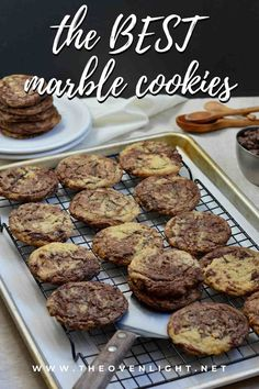 Marble Cookies | Simple twist on a classic holiday cookie—delicious all year round! Soft and super chocolatey. #marblecookie #cookierecipe #amazingcookies #simplecookies