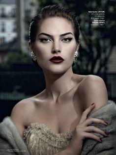 Take dark lipstick from goth to glam