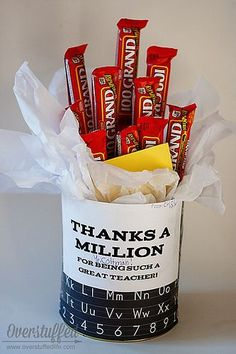 Thanks a Million Teacher Appreciation Gift Candy Bar Bouquet by lalakme, via Flickr