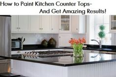 ++++++Um+Can+you+paint+a+kitchen+counter+top?+ Heck+yeah,+you+can!+I+was+amazed+to+find+so+many+great+products+that+you+can+use+to+revive+your+old counter+top.  +Did+you+know+you+could+do+this?+Here+is+a+step-by-step+for+painting+a+