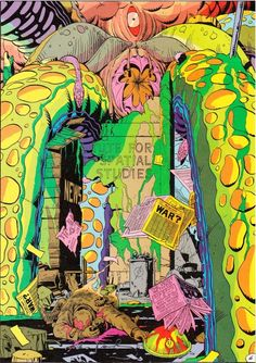The Doomsday Squid of Watchmen, by Alan Moore & Dave Gibbons.