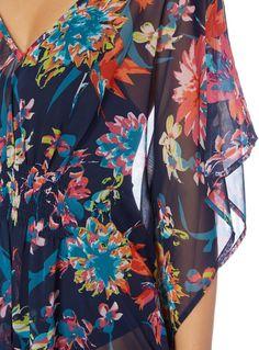 Multicoloured Winter Tropics Kaftan Edwardian Dress, Sainsburys, Fashion Sketches, Kaftan, Wetsuit, Baby Kids, Tropical, Summer Dresses, Winter
