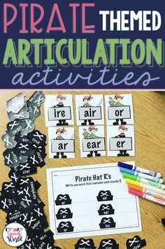 Pirate Themed Articulation Activities for speech therapy