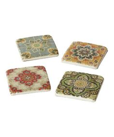 Another great find on #zulily! Medallion Coaster - Set of Four #zulilyfinds