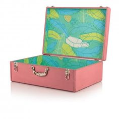 Large Tropical Decorative Storage Suitcase | New | Oliver Bonas £75
