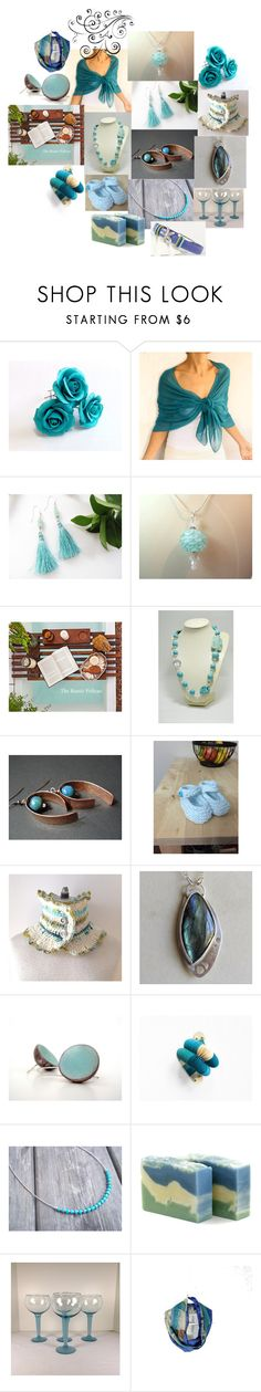 """""""Aqua Blues"""" by inspiredbyten on Polyvore featuring vintage"""