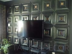 "3D leather wall panels are a simple way to improve the look and style of your home.The panels come in a variety of color options from white through shades of grey, browns, reds, and black panels.The panels vary in size from 15 3/4"" x 15 3/4"" up to 23 5/8"" x 11 3/4"" and the thickness vary from 1/2"" to 3/4"". The leather panels are also easy to handle and can be installed by the average homeowner to really make the room stand out. Price is $24 USD…"