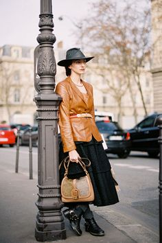 The amazing Valentina Ilardi Martin, founder, editor-in-chief and fashion director Grey magazine, after Dries van Noten, Paris, February 2012.