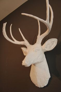 Deer head, faux taxidermy, $105