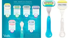 Gillette® Venus® Embrace® and Venus & Olay™ Razors    The closest shave that I have ever experienced!