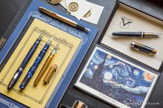 Is nighttime your write time? Find a fountain pen filled with celestial inspiration in our Starry Night collection! Read this blog for all the details. Pin for later.