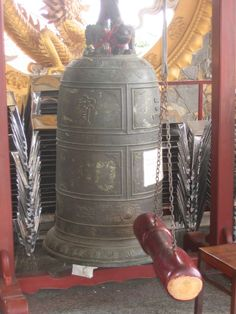 temple bells are a feature of Buddhist temples in Vietnam