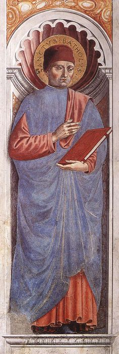 St Bartolus (on the pillar). 1464-65 Fresco Apsidal chapel, Sant'Agostino, San Gimignano.