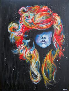 This painting reminds me of Farrah Fawcett of the Charlie's Angels tv series