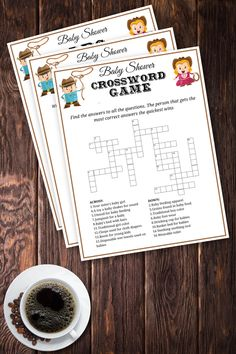 Market Avenue Social Media Management   Crossword Puzzle Answers     INSTANT DOWNLOAD   COWBOY THEME  CROSSWORD  BABY SHOWER PRINTABLE GAME SET   To play this printable game as follow  Find the answers to all the  questions