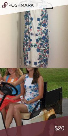 H&M Flower Cotton Dress Small, cute flowered cotton dress from H&M. H&M Dresses Mini