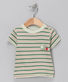 Celery Stripe Tee - Infant