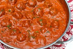 A deliciously rich and creamy, vibrantly red and flavorful Hungarian-inspired sauce accompanies tender meatballs. Simply put, it's irresistible!