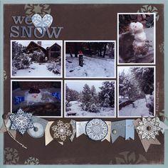 We <3 Snow - Scrapbook.com