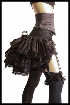 LADY LOVECRAFT Silk De Luxe Burlesque Steampunk Gothic Bustle - Lovechild Boudoir