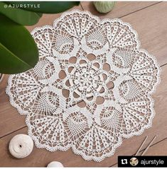 Crochet Art, Thread Crochet, Crochet Doilies, Crochet Stitches, White Towels, Doily Patterns, Crochet Necklace, Projects To Try, Weaving